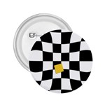 Dropout Yellow Black And White Distorted Check 2.25  Buttons Front