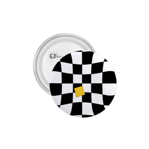 Dropout Yellow Black And White Distorted Check 1.75  Buttons
