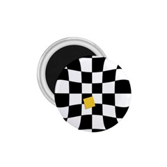 Dropout Yellow Black And White Distorted Check 1.75  Magnets