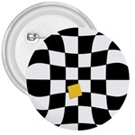 Dropout Yellow Black And White Distorted Check 3  Buttons Front