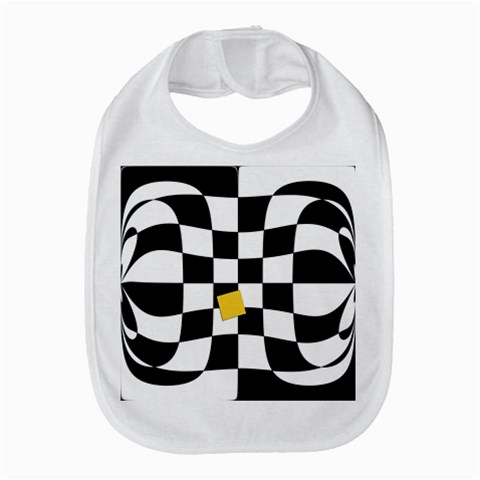 Dropout Yellow Black And White Distorted Check Bib
