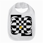 Dropout Yellow Black And White Distorted Check Bib Front