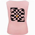 Dropout Yellow Black And White Distorted Check Women s Pink Tank Top Back