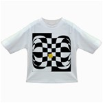 Dropout Yellow Black And White Distorted Check Infant/Toddler T-Shirts Front
