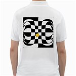 Dropout Yellow Black And White Distorted Check Golf Shirts Back