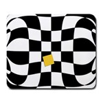 Dropout Yellow Black And White Distorted Check Large Mousepads Front