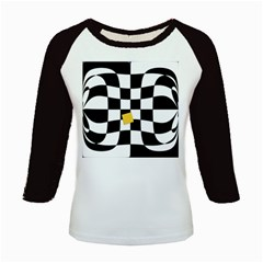 Dropout Yellow Black And White Distorted Check Kids Baseball Jerseys