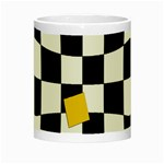 Dropout Yellow Black And White Distorted Check Night Luminous Mugs Center
