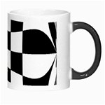 Dropout Yellow Black And White Distorted Check Morph Mugs Right