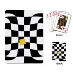 Dropout Yellow Black And White Distorted Check Playing Card Back