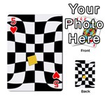 Dropout Yellow Black And White Distorted Check Playing Cards 54 Designs  Front - Heart5