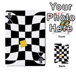 Dropout Yellow Black And White Distorted Check Playing Cards 54 Designs  Front - Spade5