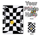 Dropout Yellow Black And White Distorted Check Playing Cards 54 Designs  Front - Joker1