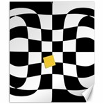Dropout Yellow Black And White Distorted Check Canvas 8  x 10  10.02 x8 Canvas - 1