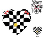 Dropout Yellow Black And White Distorted Check Playing Cards 54 (Heart)  Front - Heart10