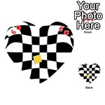 Dropout Yellow Black And White Distorted Check Playing Cards 54 (Heart)  Front - Diamond6