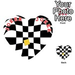 Dropout Yellow Black And White Distorted Check Playing Cards 54 (Heart)  Front - Joker2
