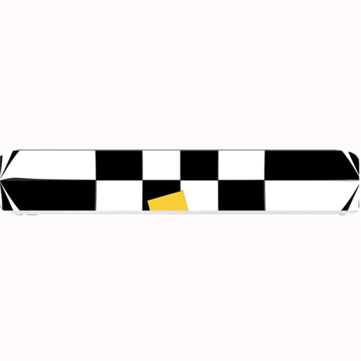 Dropout Yellow Black And White Distorted Check Small Bar Mats