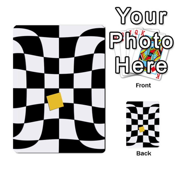 Dropout Yellow Black And White Distorted Check Multi-purpose Cards (Rectangle)
