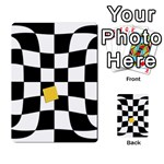Dropout Yellow Black And White Distorted Check Multi-purpose Cards (Rectangle)  Back 25