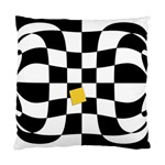 Dropout Yellow Black And White Distorted Check Standard Cushion Case (One Side) Front
