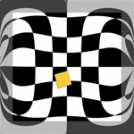 Dropout Yellow Black And White Distorted Check Mini Canvas 8  x 8  8  x 8  x 0.875  Stretched Canvas