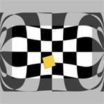 Dropout Yellow Black And White Distorted Check Mini Canvas 6  x 4  6  x 4  x 0.875  Stretched Canvas