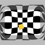 Dropout Yellow Black And White Distorted Check Mini Canvas 7  x 5  7  x 5  x 0.875  Stretched Canvas