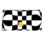 Dropout Yellow Black And White Distorted Check Pencil Cases Back