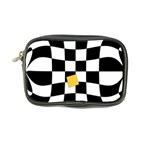 Dropout Yellow Black And White Distorted Check Coin Purse Front