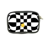 Dropout Yellow Black And White Distorted Check Coin Purse Back