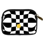Dropout Yellow Black And White Distorted Check Digital Camera Cases Back