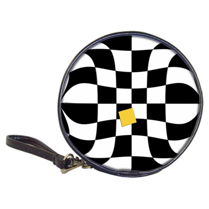 Dropout Yellow Black And White Distorted Check Classic 20-CD Wallets