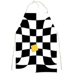 Dropout Yellow Black And White Distorted Check Full Print Aprons Front