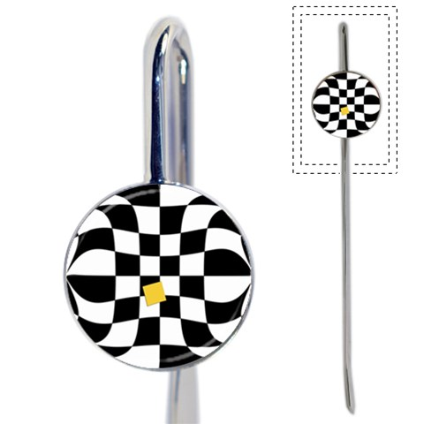 Dropout Yellow Black And White Distorted Check Book Mark