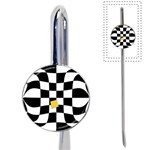 Dropout Yellow Black And White Distorted Check Book Mark Front