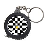 Dropout Yellow Black And White Distorted Check Measuring Tapes Front
