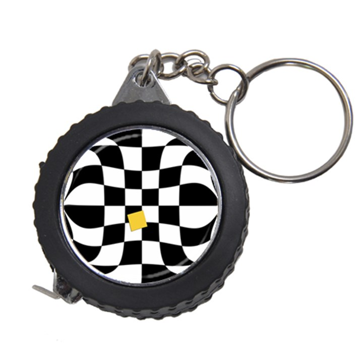 Dropout Yellow Black And White Distorted Check Measuring Tapes