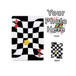 Dropout Yellow Black And White Distorted Check Playing Cards 54 (Mini)  Front - Diamond4
