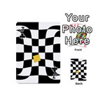 Dropout Yellow Black And White Distorted Check Playing Cards 54 (Mini)  Front - ClubJ