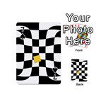 Dropout Yellow Black And White Distorted Check Playing Cards 54 (Mini)  Front - Spade7