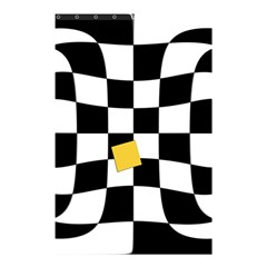 Dropout Yellow Black And White Distorted Check Shower Curtain 48  x 72  (Small)
