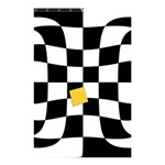 Dropout Yellow Black And White Distorted Check Shower Curtain 48  x 72  (Small)  42.18 x64.8 Curtain