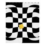 Dropout Yellow Black And White Distorted Check Shower Curtain 60  x 72  (Medium)  54.25 x65.71 Curtain