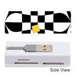 Dropout Yellow Black And White Distorted Check Memory Card Reader (Stick)  Front