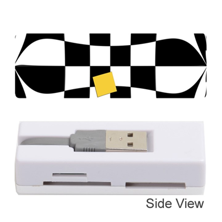 Dropout Yellow Black And White Distorted Check Memory Card Reader (Stick)