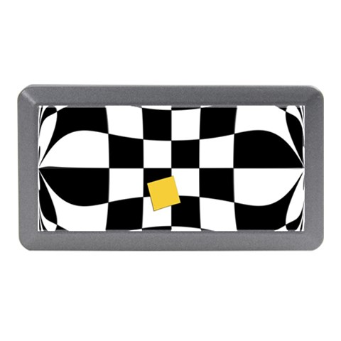 Dropout Yellow Black And White Distorted Check Memory Card Reader (Mini)