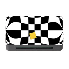 Dropout Yellow Black And White Distorted Check Memory Card Reader with CF