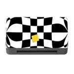 Dropout Yellow Black And White Distorted Check Memory Card Reader with CF Front