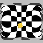 Dropout Yellow Black And White Distorted Check Deluxe Canvas 24  x 20   24  x 20  x 1.5  Stretched Canvas